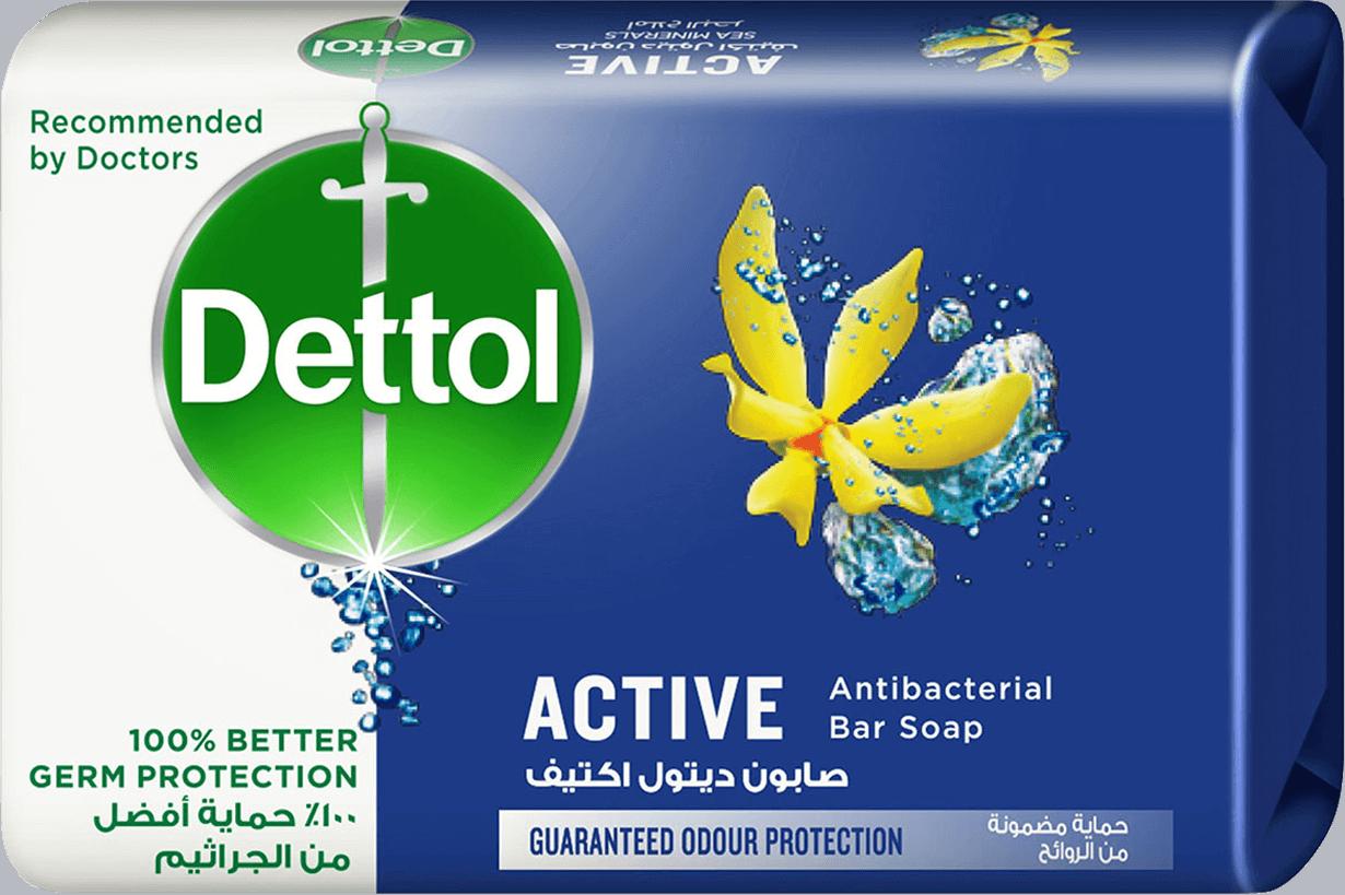 قالب صابون ديتول أكتيف المضاد للبكتيريا